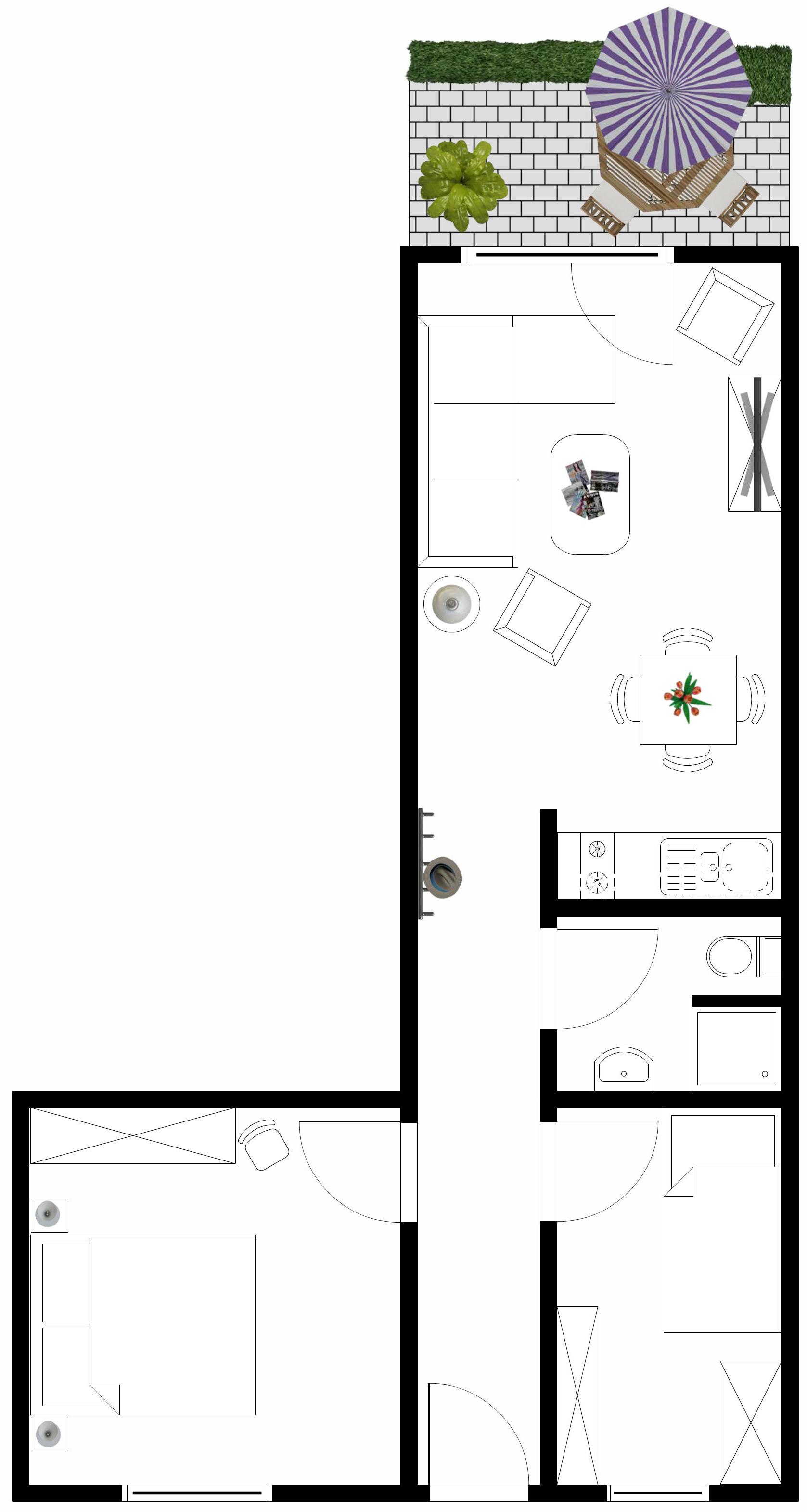 3 zimmer 3 zimmer in ostseebad k hlungsborn bis 4 personen sodan ostsee. Black Bedroom Furniture Sets. Home Design Ideas