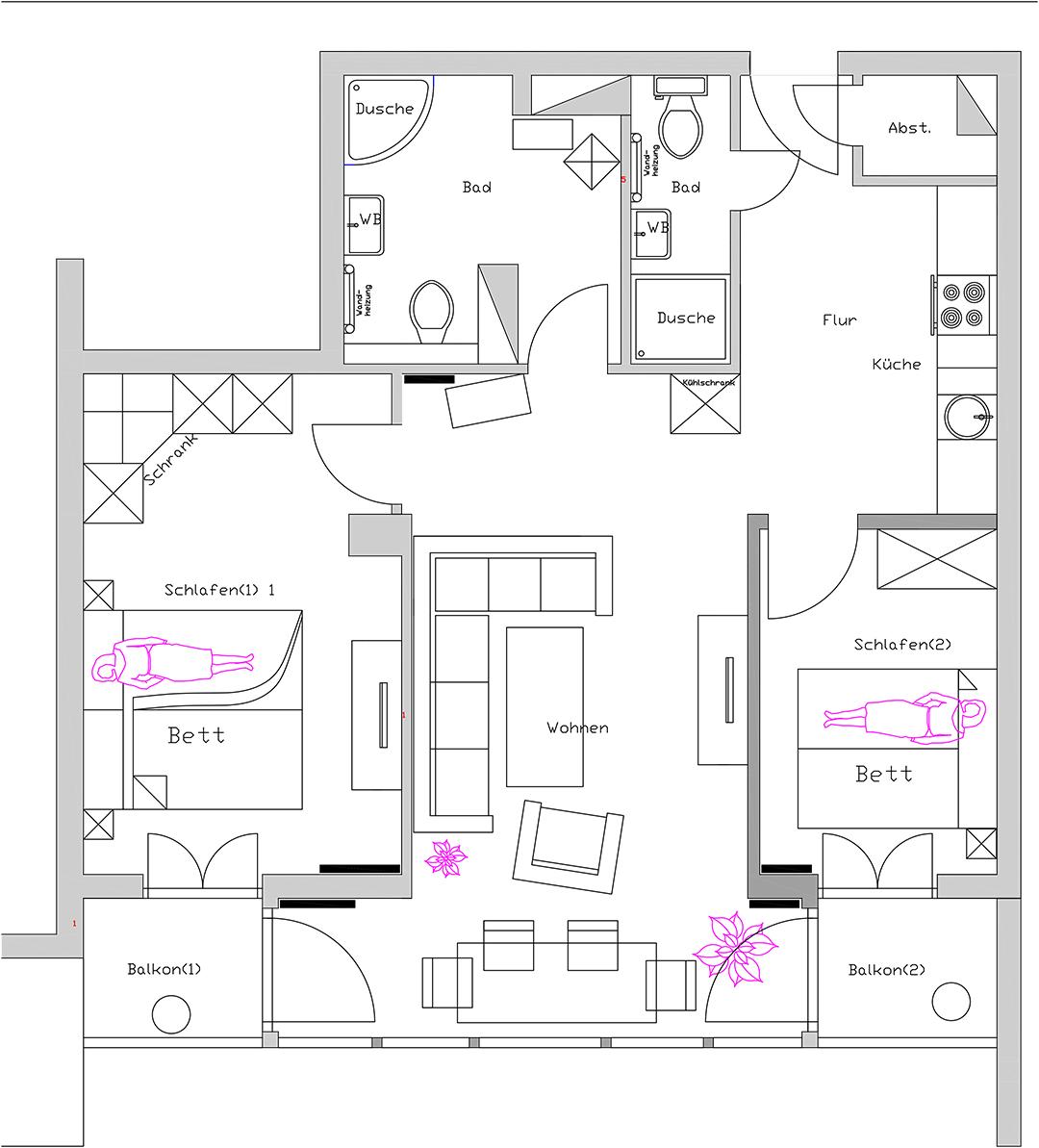3 Zimmer Ferienwohnung In Ostseebad Kühlungsborn Bis 4 Personen